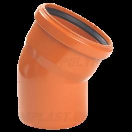 Отвод 30° ⌀ 110 мм для наружной канализации