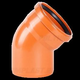 Отвод 45° ⌀ 200 мм для наружной канализации