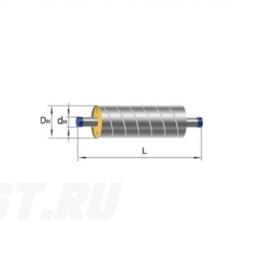 Труба Ст 159х4,5-1-ППУ-ОЦ в ППУ изоляции