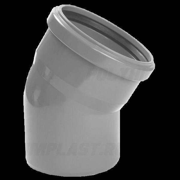 Отвод 30° ⌀ 110 мм для внутренней канализации