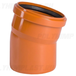 Отвод 15° ⌀ 250 мм для наружной канализации