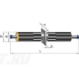 Неподвижная опора Ст 325-650x40 1-ППУ-ПЭ в ППУ изоляции