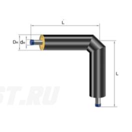 Отвод Ст 57х3-ППУ-ПЭ в ППУ изоляции