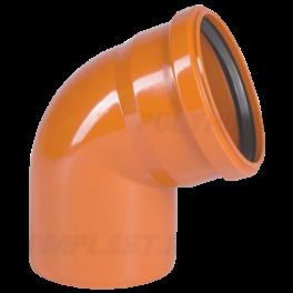 Отвод 60° ⌀ 110 мм для наружной канализации