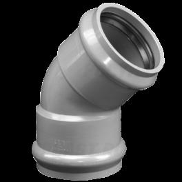 Отвод ПВХ напорный раструбный ⌀ 110 мм 45°