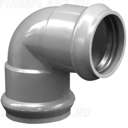 Отвод ПВХ напорный раструбный ⌀ 110 мм 90°