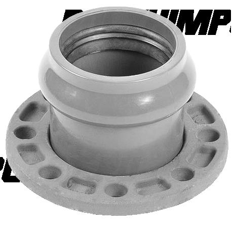 Патрубок напорный раструбный со стальным фланцем ⌀ 110/100 мм