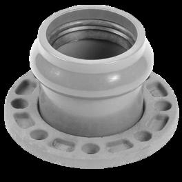 Патрубок напорный раструбный со стальным фланцем ⌀ 160/150 мм