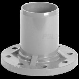 Патрубок напорный гладкий с ПВХ фланцем ⌀ 110/100 мм
