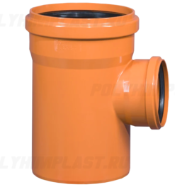 Тройник ПВХ 90° ⌀ 200х160 мм для наружной канализации