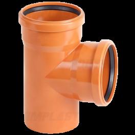 Тройник ПВХ 90° ⌀ 200х200 мм для наружной канализации