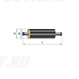 Труба Ст 40х3,5-1-ППУ-ПЭ в ППУ изоляции