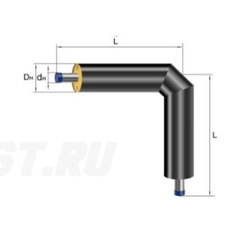 Отвод Ст 76х3-ППУ-ПЭ в ППУ изоляции