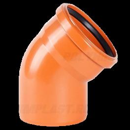 Отвод 45° ⌀ 110 мм для наружной канализации