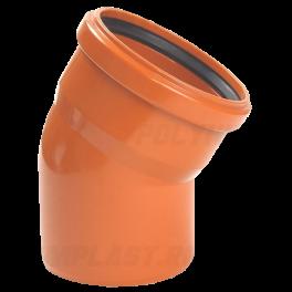 Отвод 30° ⌀ 160 мм для наружной канализации