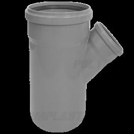 Тройник ПВХ 45° ⌀ 110х50 мм для внутренней канализации