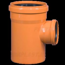 Тройник ПВХ 90° ⌀ 200х110 мм для наружной канализации