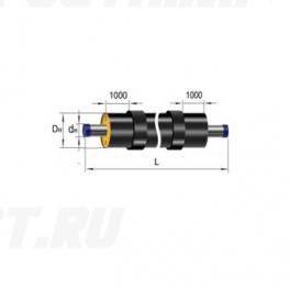 Труба Ст 25х3,2-1-ППУ-ПЭ-Б в ППУ изоляции