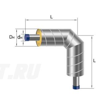 Отвод Ст 40х3,5-ППУ-ОЦ в ППУ изоляции