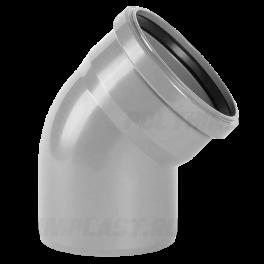 Отвод 45° ⌀ 110 мм для внутренней канализации