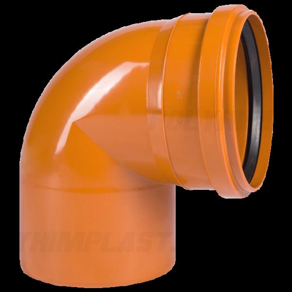 Отвод 90° ⌀ 110 мм для наружной канализации