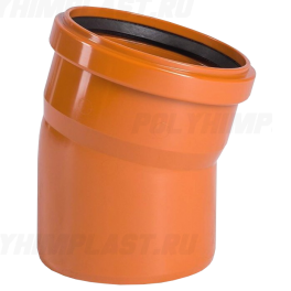 Отвод 15° ⌀ 200 мм для наружной канализации