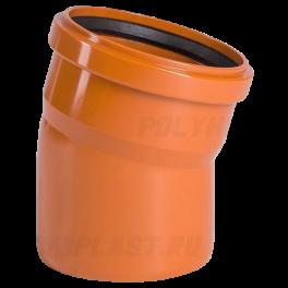 Отвод 15° ⌀ 315 мм для наружной канализации