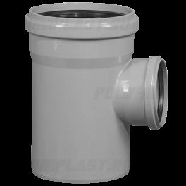 Тройник ПВХ 90° ⌀ 110х50 мм для внутренней канализации