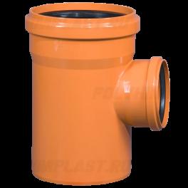 Тройник ПВХ 90° ⌀ 160х110 мм для наружной канализации