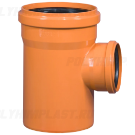 Тройник ПВХ 90° ⌀ 250х160 мм для наружной канализации