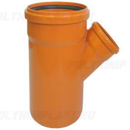Тройник ПВХ 45° ⌀ 400х250 мм для наружной канализации
