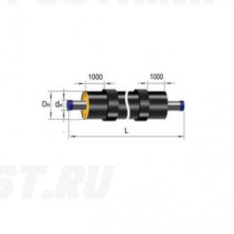 Труба Ст 40х3,5-1-ППУ-ПЭ-Б в ППУ изоляции