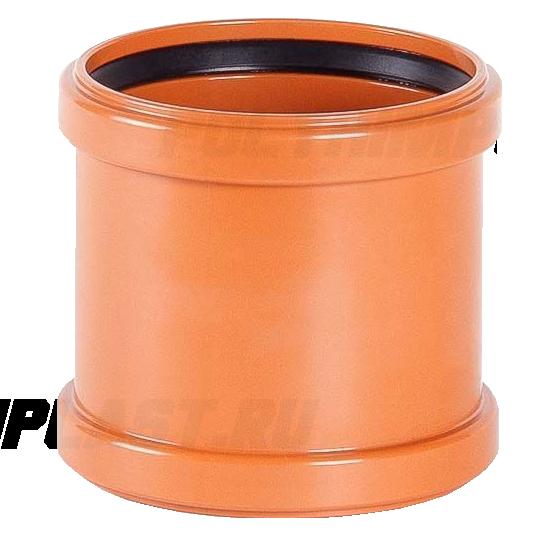 Муфта надвижная ⌀ 110 мм для наружной канализации