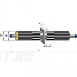 Неподвижная опора Ст 133-340x16 1-ППУ-ПЭ в ППУ изоляции