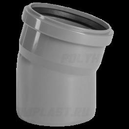 Отвод 15° ⌀ 110 мм для внутренней канализации