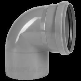 Отвод 90° ⌀ 110 мм для внутренней канализации