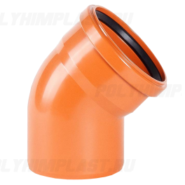 Отвод 45° ⌀ 250 мм для наружной канализации