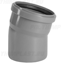 Отвод 15° ⌀ 50 мм для внутренней канализации
