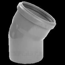 Отвод 30° ⌀ 50 мм для внутренней канализации