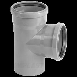 Тройник ПВХ 90° ⌀ 110х110 мм для внутренней канализации