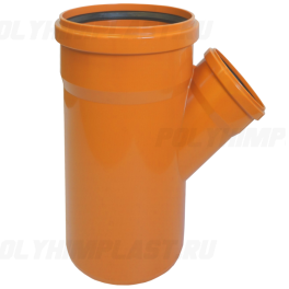 Тройник ПВХ 45° ⌀ 160х110 мм для наружной канализации