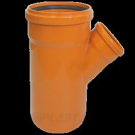Тройник ПВХ 45° ⌀ 200х110 мм для наружной канализации