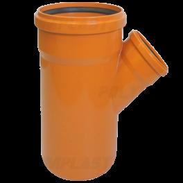 Тройник ПВХ 45° ⌀ 250х110 мм для наружной канализации