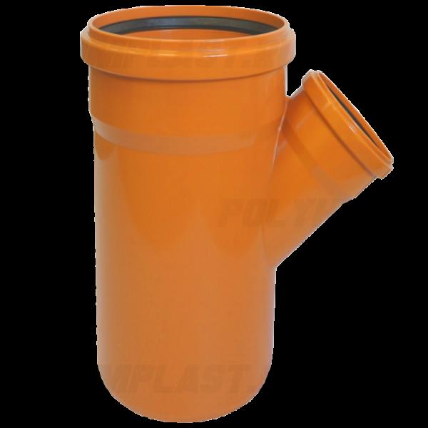 Тройник ПВХ 45° ⌀ 400х110 мм для наружной канализации