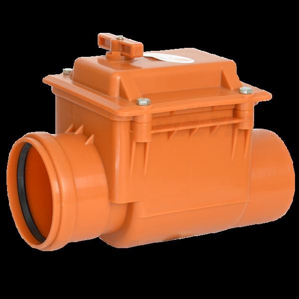 Обратный клапан ⌀ 110 мм для наружной канализации