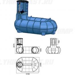 Резервуар для подземного хранения топлива