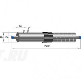Концевой элемент Ст 219-1-ППУ-ОЦ-650(200)ЗМ в ППУ изоляции