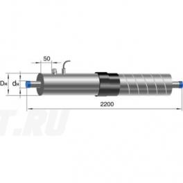 Концевой элемент Ст 25-1-ППУ-ОЦ-650(200)ЗМ в ППУ изоляции