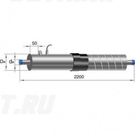 Концевой элемент Ст 40-1-ППУ-ОЦ-650(200)ЗМ в ППУ изоляции