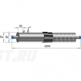 Концевой элемент Ст 57-1-ППУ-ОЦ-650(200)ЗМ в ППУ изоляции